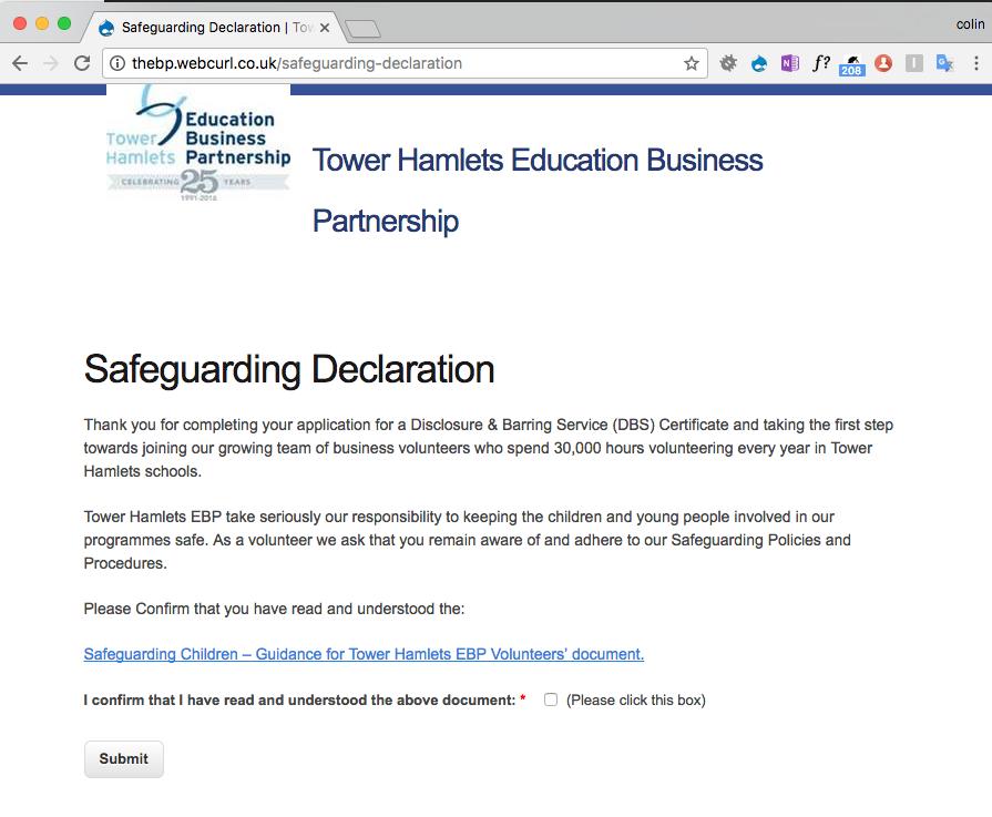 Safeguarding Declaration