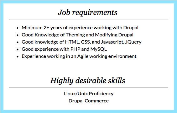 job requirement