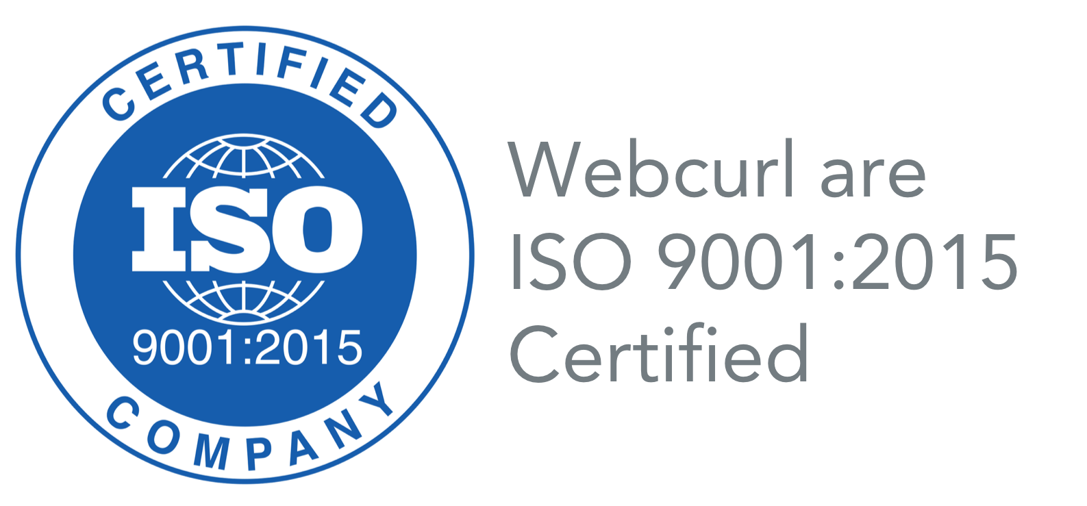 Webcurl ISO 9001:2015 Certified