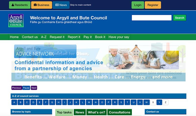 argyll homepage